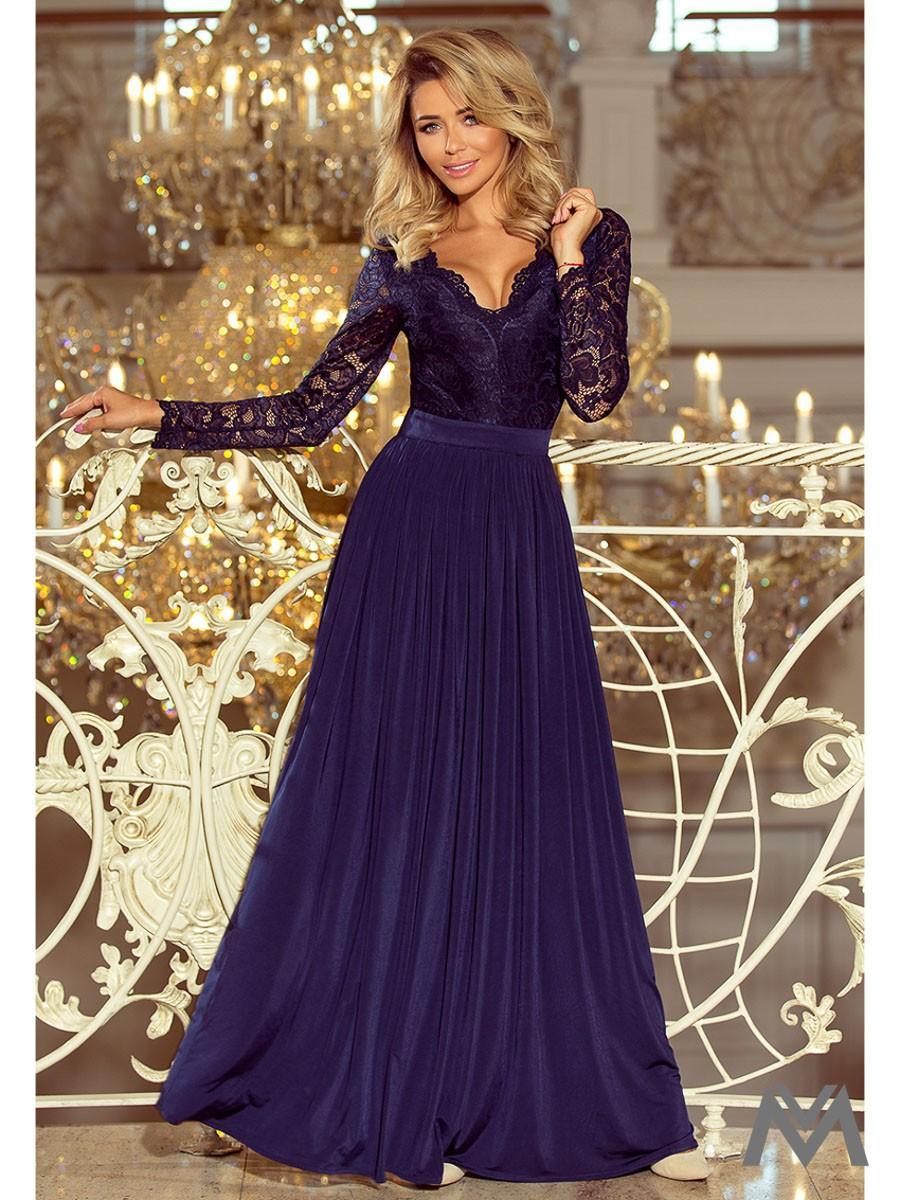 Dlhé dámske šaty s čipkou  - Obrázok č. 1