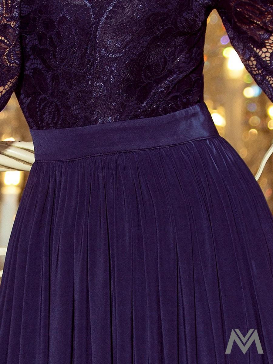 Dlhé dámske šaty s čipkou  - Obrázok č. 2