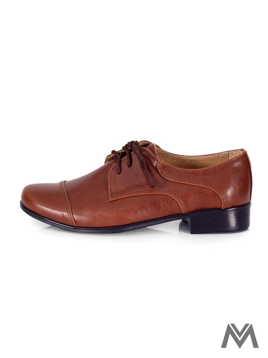 Chlapčenské spoločenské topánky 200 hnedé - Obrázok č. 1
