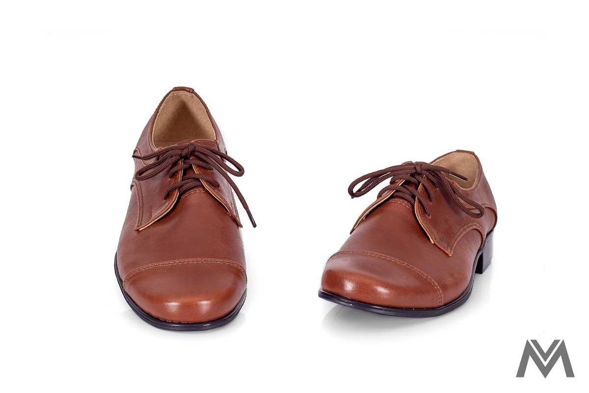 Chlapčenské spoločenské topánky 200 hnedé - Obrázok č. 2