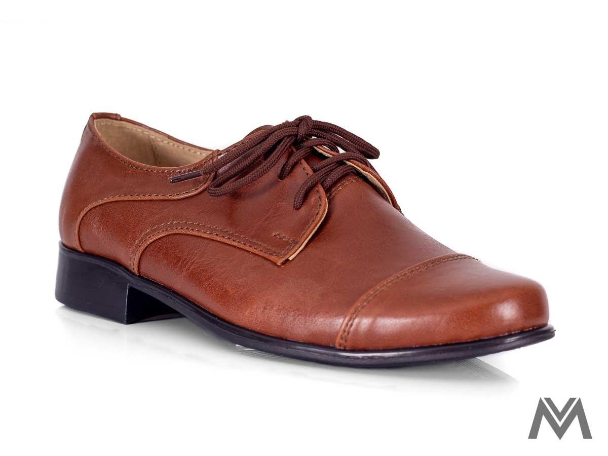 Chlapčenské spoločenské topánky 200 hnedé - Obrázok č. 3