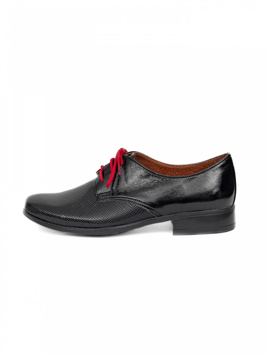 Chlapčenské detské spoločenské kožené topánky 99A  - Obrázok č. 1