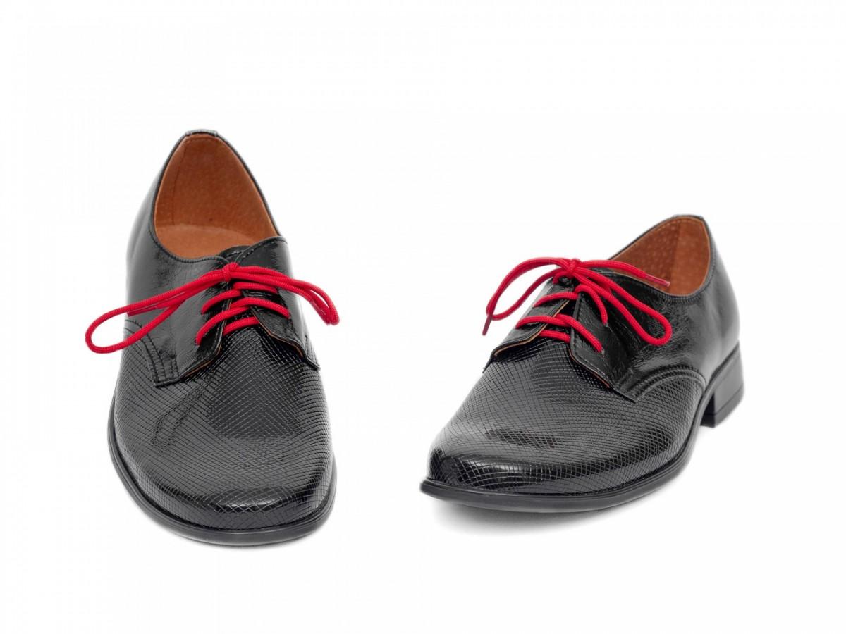 Chlapčenské detské spoločenské kožené topánky 99A  - Obrázok č. 3
