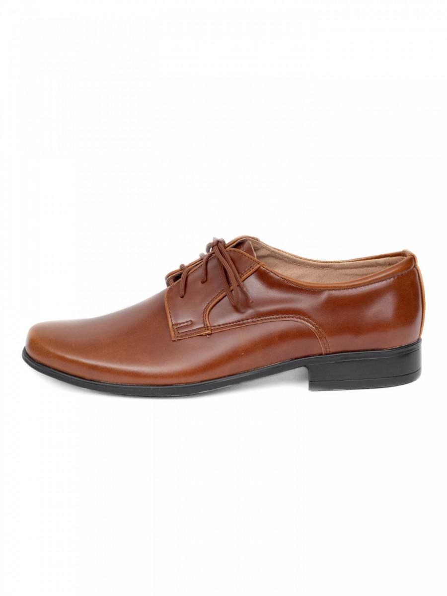 Chlapčenské spoločenské topánky 225 hnedé - Obrázok č. 1