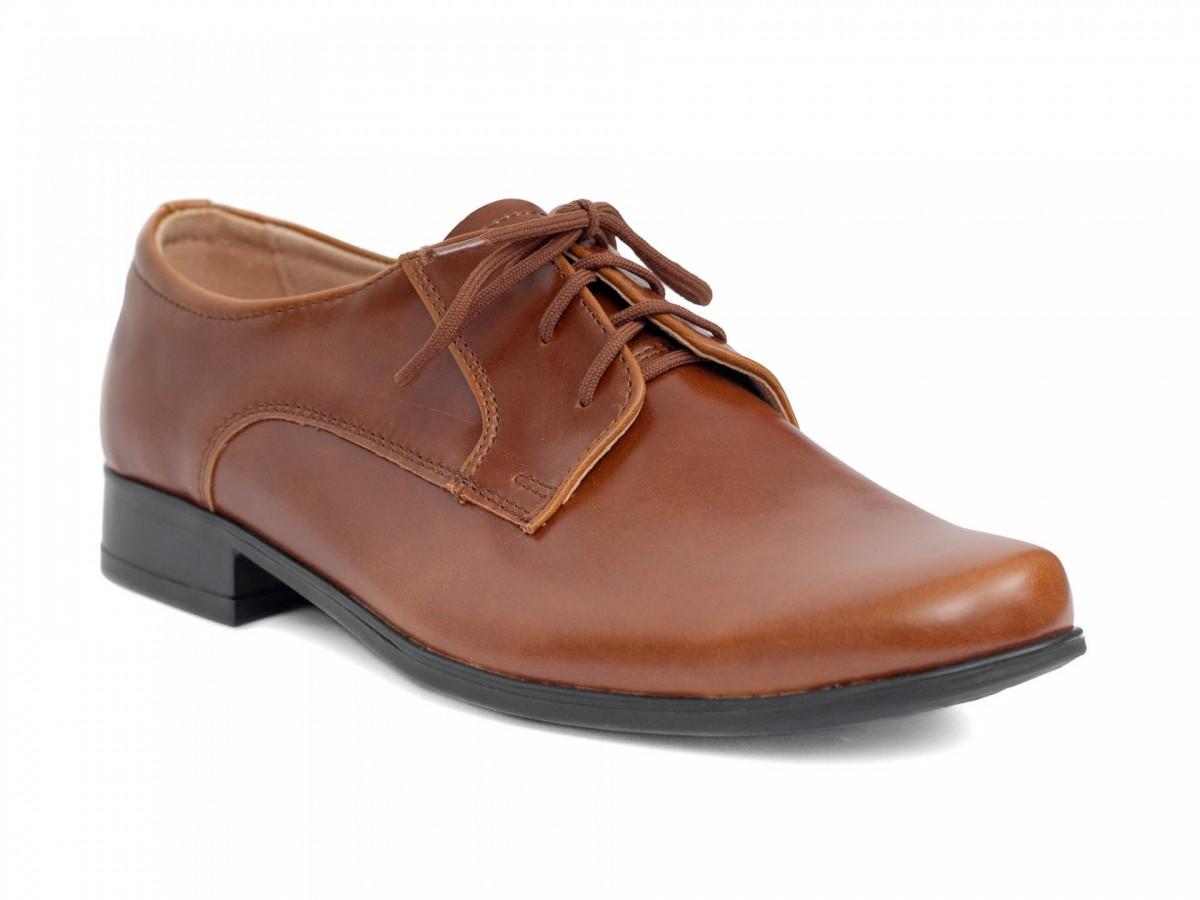 Chlapčenské spoločenské topánky 225 hnedé - Obrázok č. 2