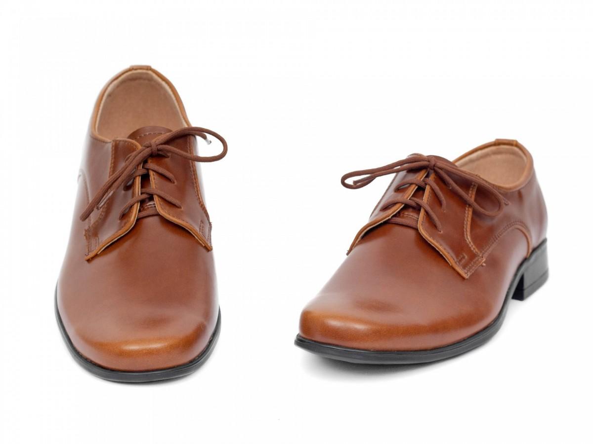 Chlapčenské spoločenské topánky 225 hnedé - Obrázok č. 3