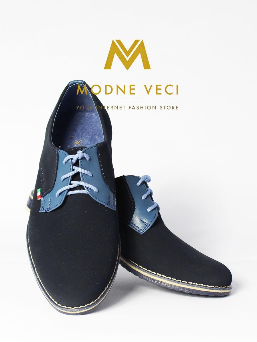 Chlapčenské spoločenské topánky 209 - modré - Obrázok č. 3