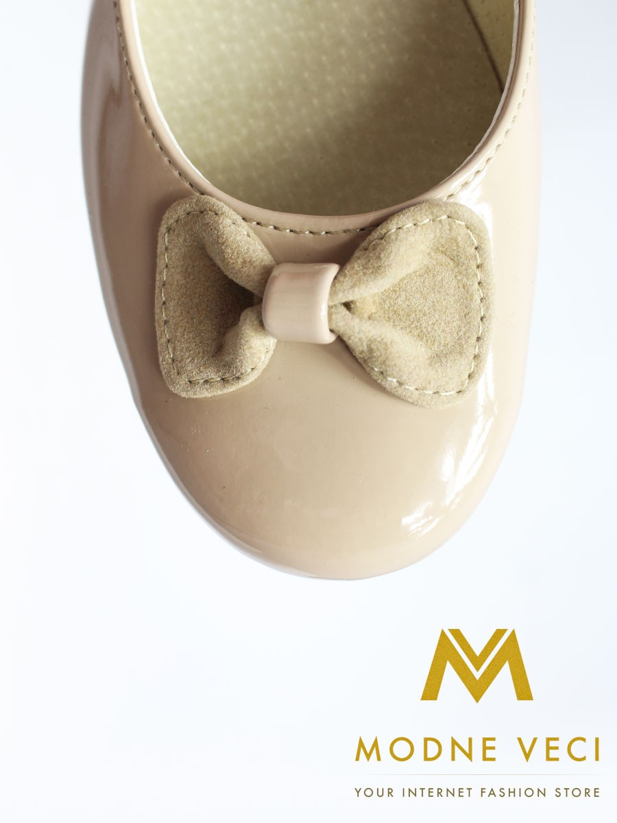 Dievčenské balerínky béžové 165 - Obrázok č. 3