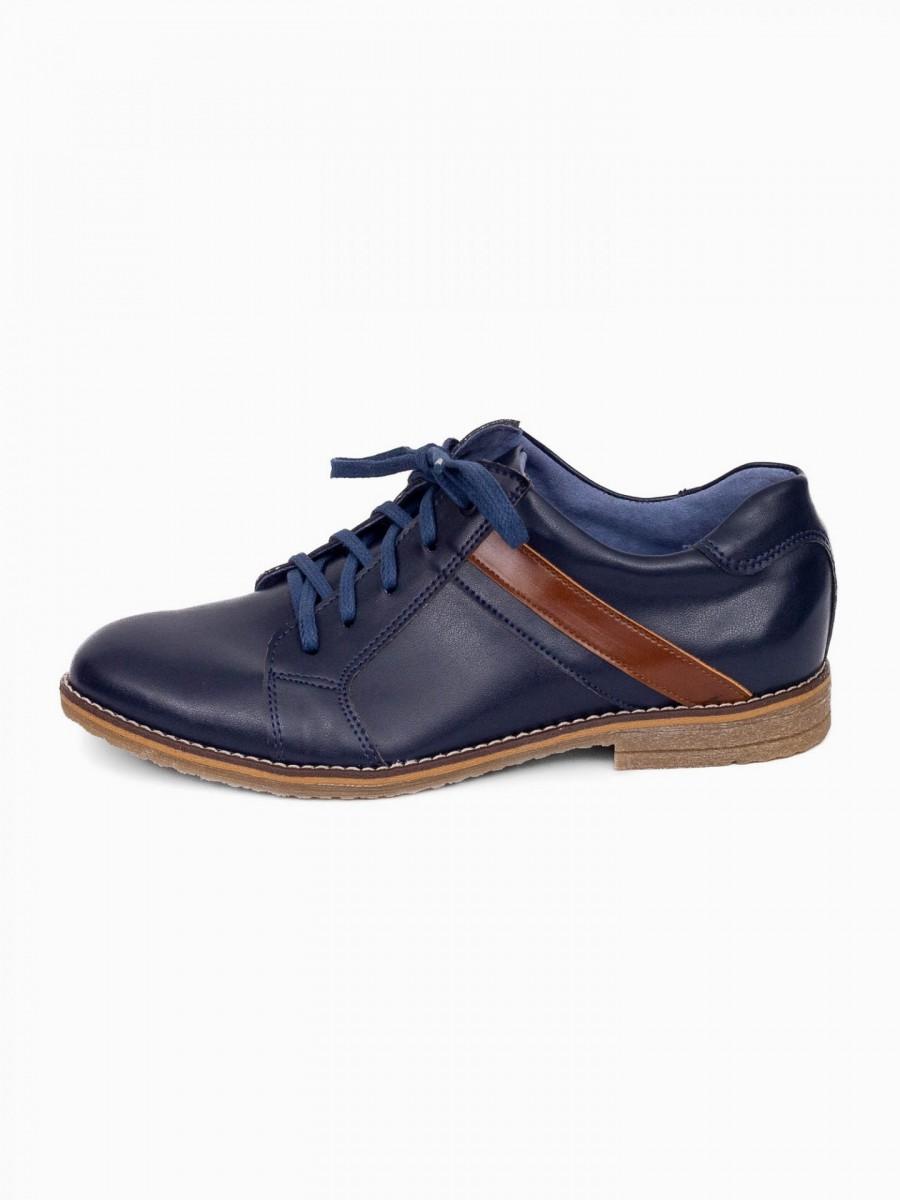 Chlapčenské detské kožené topánky 303 modré - Obrázok č. 1