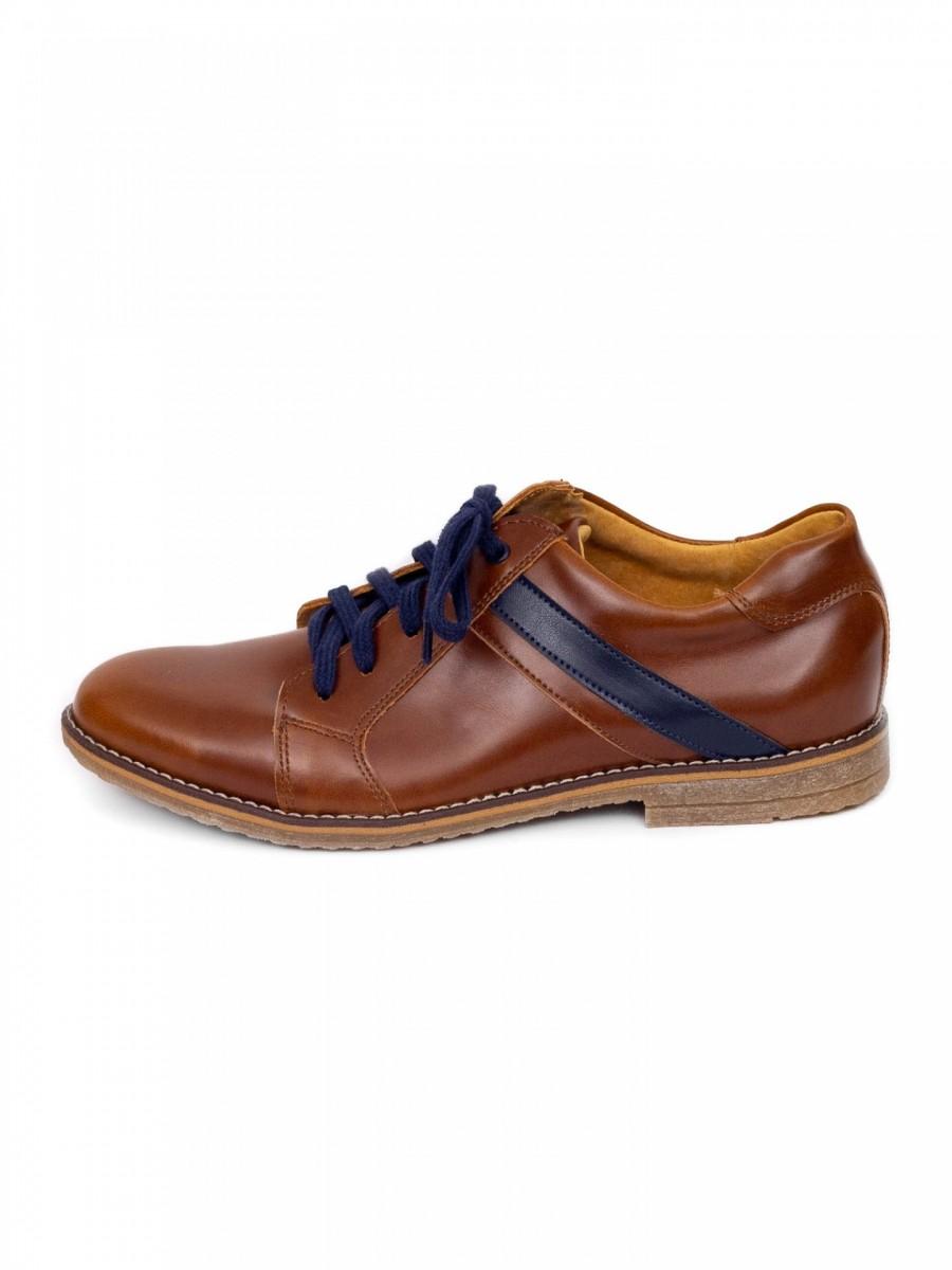 Chlapčenské detské kožené topánky 303 hnedé - Obrázok č. 1