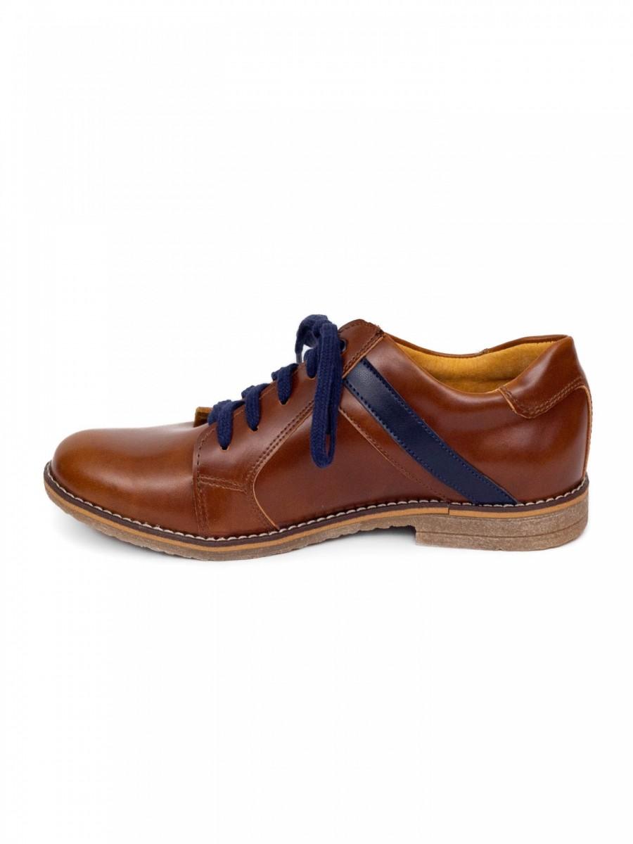 Chlapčenské detské kožené topánky 303 hnedé - Obrázok č. 2