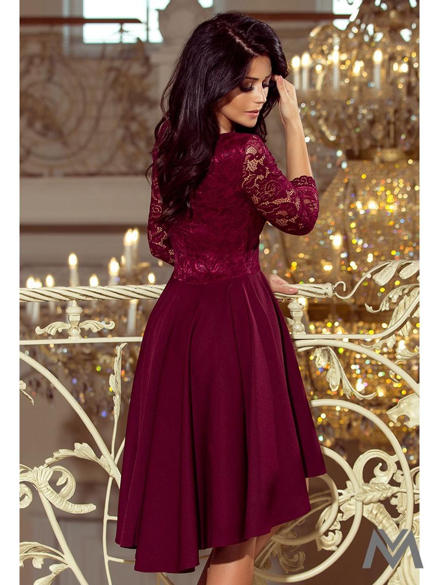 Elegantné dámske šaty 210-1 bordo - Obrázok č. 2