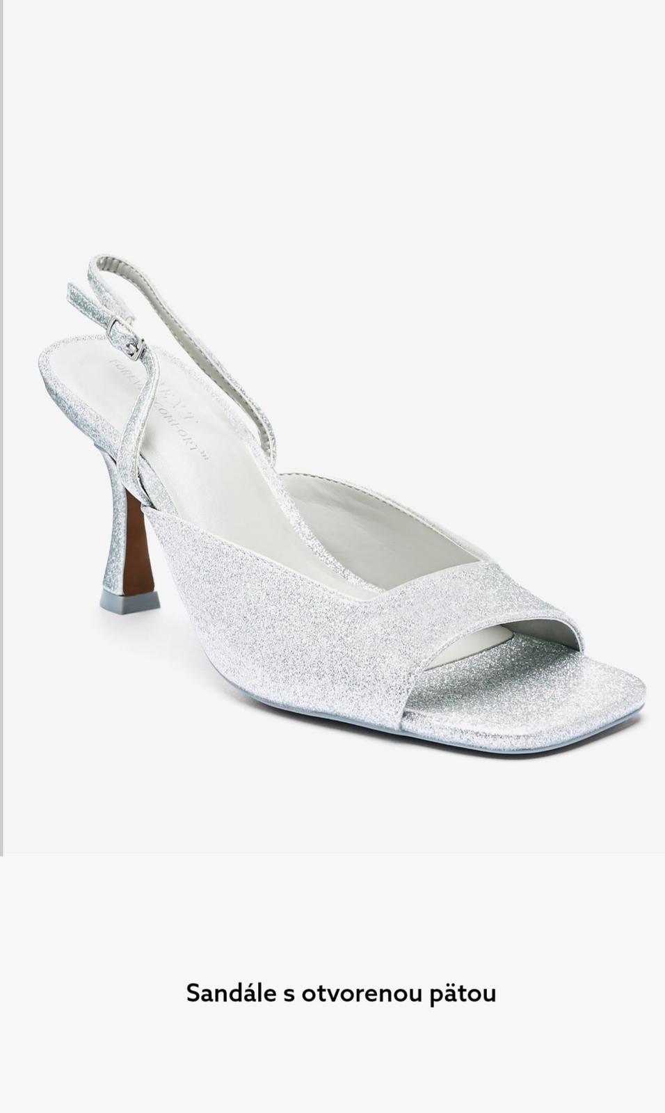 nové strieborné sandále, lodičky velk. 37,5 - Obrázok č. 1
