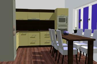 návrh kuchyně... jen barvy budou trochu jiné