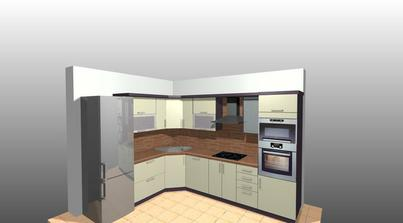 náš návrh kuchyně - už objednána :-)