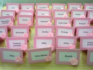 vyrobené jmenovky na stůl :-)