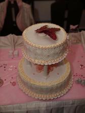 svatební dort...motýlkový