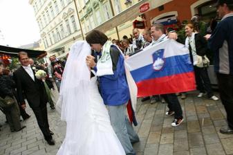 slovinský fanúšikovia