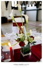 Ikebana na kulaté stoly.. přidávám pro další nevěsty..