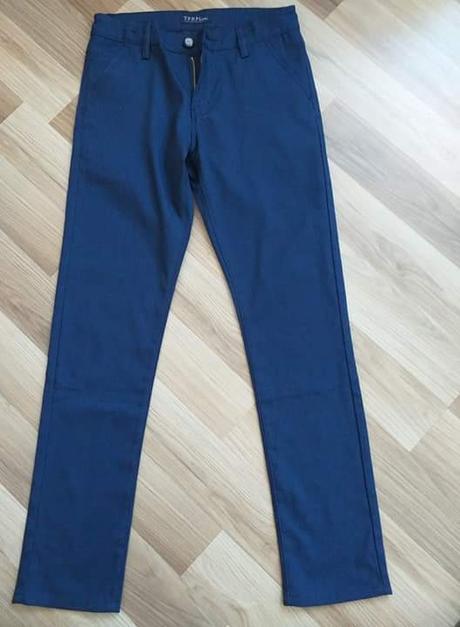 Tmavomodré spoločenské nohavice chlapčenské - Obrázok č. 1