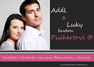Tak jsme dokončili svatební oznámení - made by Adel