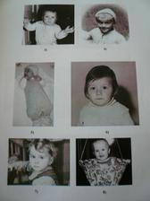 v téhle sekci se měli svatebčani poznat podle fotek z dětství