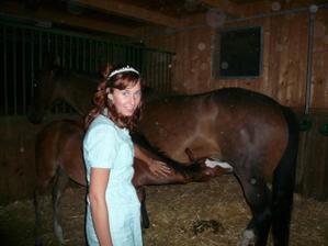 byla jsem si schrupnout ke koním