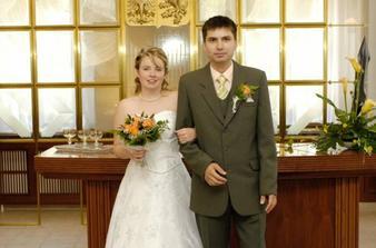 Novomanželé Papouškovi poprvé
