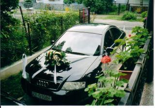 Svadobné autíčko / ďakujeme Dodovi /