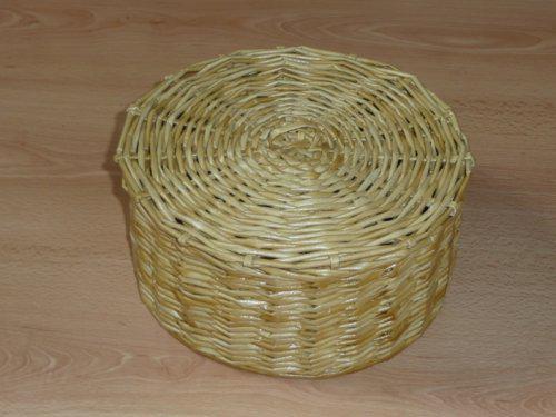 Hnízdečko - košík s víkem pletený dvěma