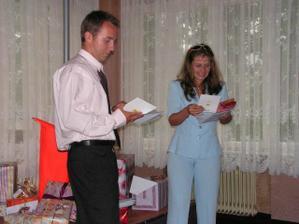 svědci hrozně chtěli číst blahopřání :-)