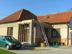 Veranda je už pripravená... prvá časť úspešne spravená