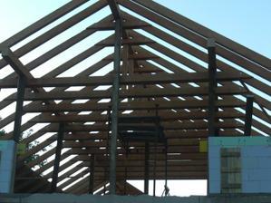 A konštrukcia krovu je už hotová