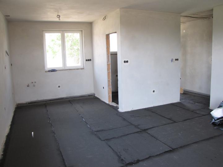 Podlahové kúrenie a poter - zaizolované