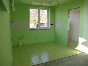 kuchyňa a špajza vydlaždená ešte treba zašpárovať