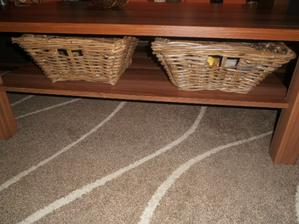 košíčky pod stol do obyvačky