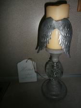 anjelske krídla na sviečku