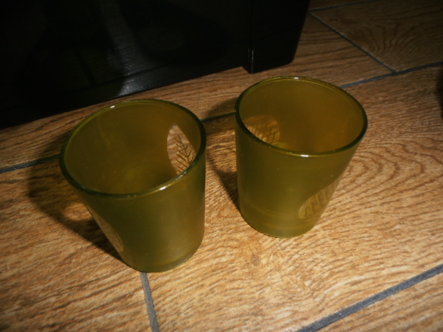 2x skleneny pharik  na sviecku - Obrázok č. 1