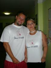 Naše svatební trička..