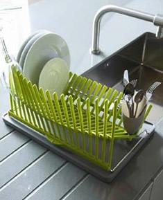 Kuchynské dizajnové doplnky na www.dekoraciedobytu.sk - Odkvapkavac High Dry zeleny