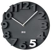 3d plastové hodiny čiernej farby s priemerom 40 cm. Cena 22€