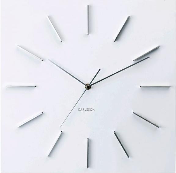 Nástenné hodiny Karlsson - Nástenné hodiny 5270WH Karlsson 40cm