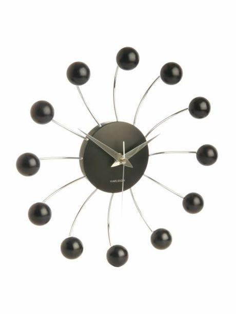 Nastenne hodiny spider 30cm black - Obrázok č. 1