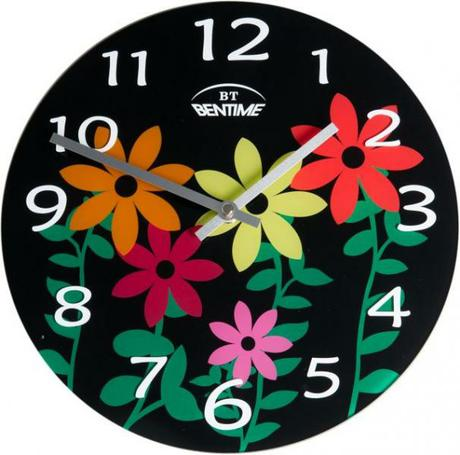 Elegantné nástenné okrúhle hodiny značky Bentime.  - Obrázok č. 1