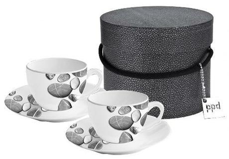 Sada 2 cappuccino šálok s podtáckami v darčekovom  - Obrázok č. 1