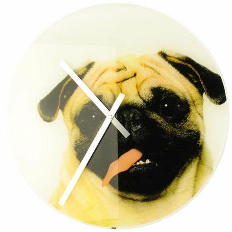 Nástenné hodiny Karlsson pes Leo nástenné - Obrázok č. 1