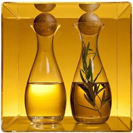 Nádoby na olej a ocot s drevenou guličkou - Obrázok č. 1