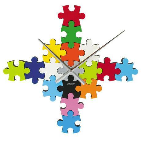 nastenne hodiny s puzzle motívom karlsson - Obrázok č. 1