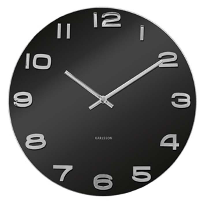"""Elegantné nástenné hodiny """"Vintage""""Karlsson čierne - Obrázok č. 1"""