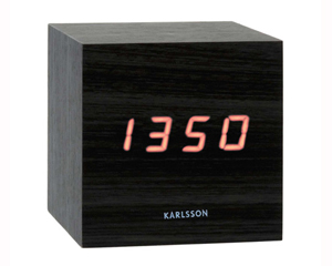 LED Budík Karlsson KA5073Black 9cm - Obrázok č. 1